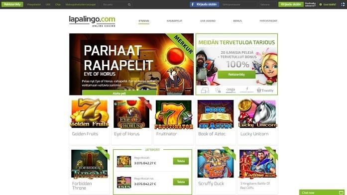 Lapalingo-casino tarjoaa kerrassaan loistavan pelivalikoima.