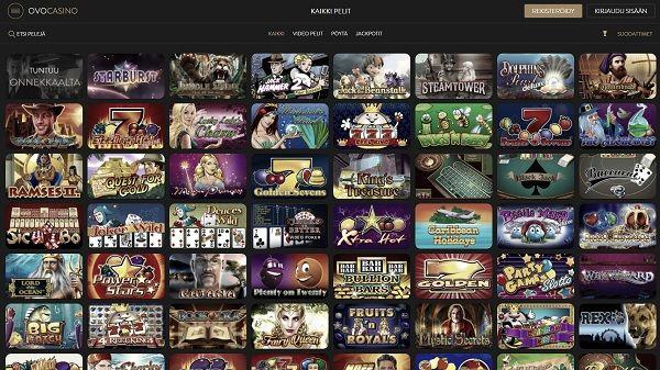 NetEnt ja Novomatic löytyvät OVO Casinon pelivalikoimasta