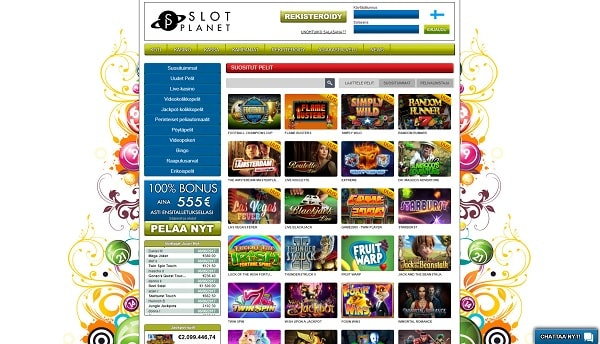 Slot Planet kasinon pelivalikoima