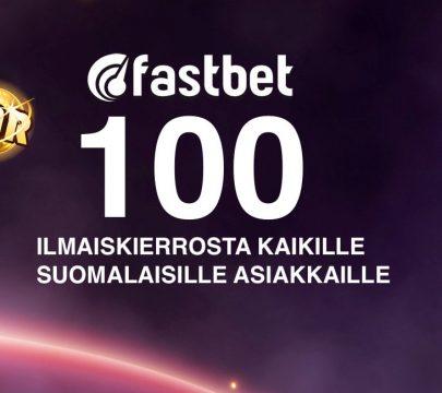 Nappaa Fastbetin mahtava uusi tervetuliaistarjous, jonka avulla saat itsellesi 100 ilmaiskierrosta ilman talletusta!