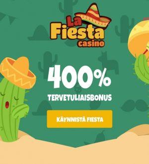 Kokeile La Fiesta -nettikasinoa 400% kasinobonuksella!