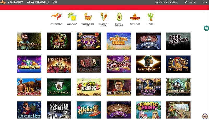 Pelaa La Fiestalla yli 600 kasinopeliä!