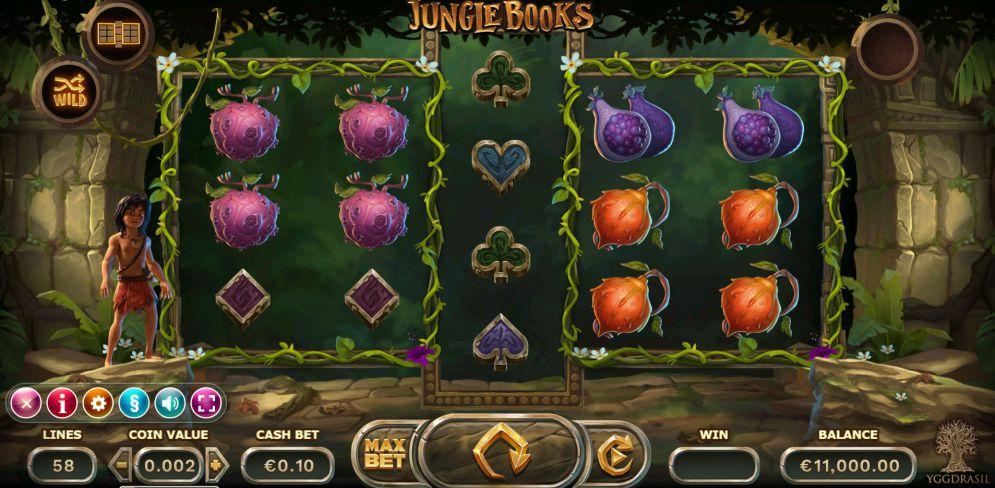 Nappaa ilmaiskierrokset Jungle Books -peliin nettikasinot.casinolla!