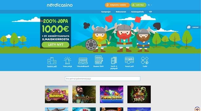 NordiCasino on yksi markkinoiden uusimmista nettikasinoista