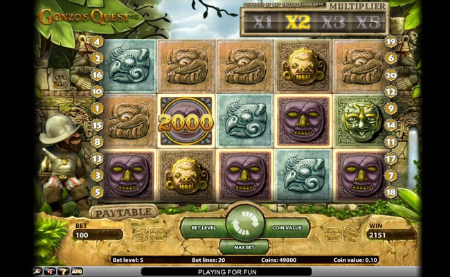 Try Gonzo's Quest Slot at online casinos.casino!