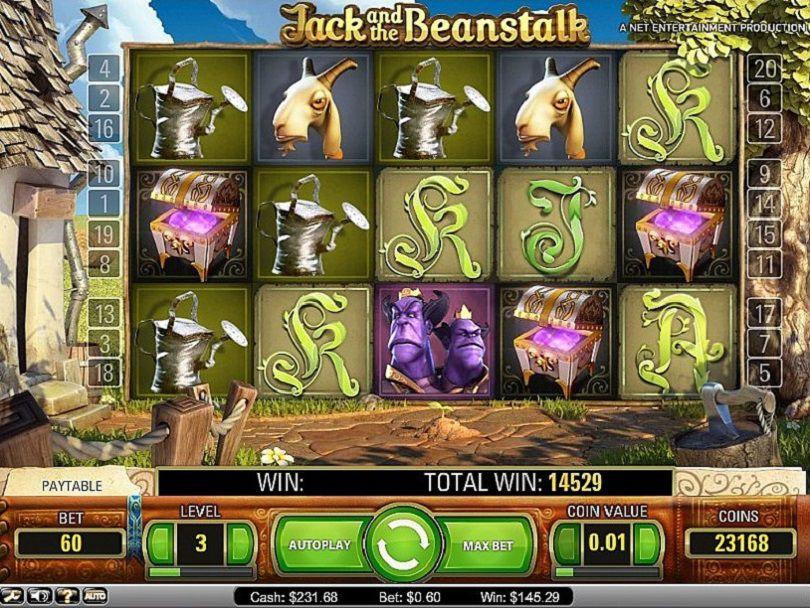 Kokeile Jack and the Beanstalk -kolikkopeliä ja voita!