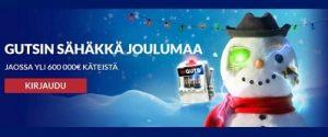 Voita Gutsin Sähäkän Joulumaan avulla jopa 600 000€ edestä käteistä!