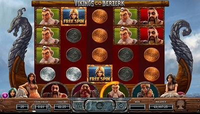 Nappaa Vikings Go Berzerk ilmaiskierroksia, vapaapelejä ja casinobonukset!