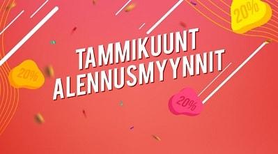 Ota SuomiArpojen Tammikuun Alennusmyynneistä talteen jopa 200 euron edestä bonusrahaa pelaamiseen!