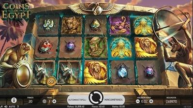 Lue täältä Coins of Egypt -pelin palautusprosentti (RTP), suurin voitto, erikoisominaisuudet ja muuta!