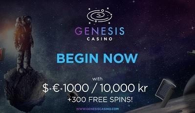 Ota Genesis Casino tervetuliaispaketti talteen täältä!