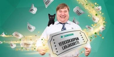 Voita Casinohuoneelta perjantai 13. päivä kunniaksi Verkkokauppa.com-lahjakortti!