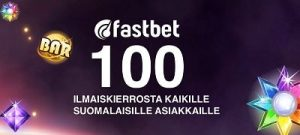 Uudet Fastbet-pelaajat saavat 100 ilmaiskieppiä pelkästä tilin luomisesta!
