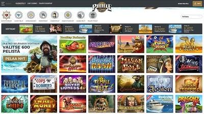 Tarkista upouuden Pirate Spin -sivuston kasinopelivalikoima täältä!