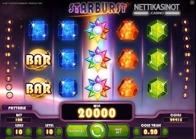 Lue täältä nettikasinoiden suosituimmat ilmaiskierrospelit, mukana Starburst!