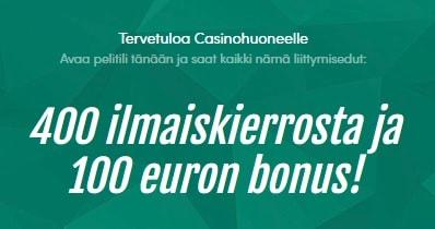 Tsekkaa Casinohuoneen tarjoukset liittyville pelaajille täältä!