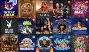 Spinia Casinon valikomassa on satoja kolikkopelejä.