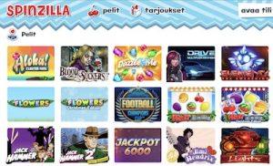 Spinzillan kolikkopelit ja jackpot-pelit