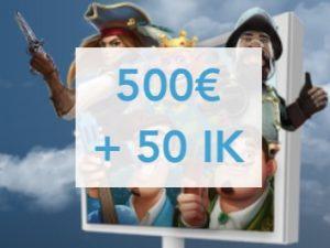 Casimpo jakaa 500€ talletusbonukset ja 50 ilmaiskierrosta