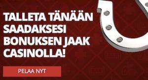 Jaak Casino jakaa pelaajille 50€ bonukset
