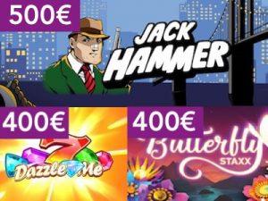 Kolikkopeleissä on joka 500€ maksimipanokset