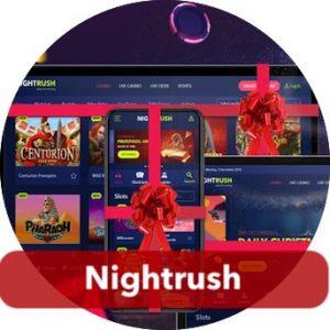 Nighrushin jouluarvonnassa jaetaan käteistä ja tuotepalkintoja.