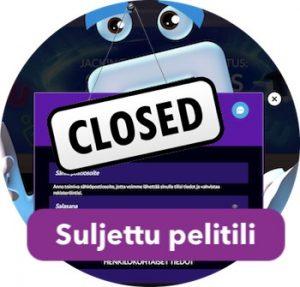 Kokemukset pelitilin sulkemisesta nettikasinoilla