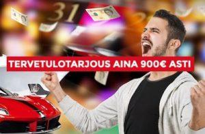 Dream Jackpot Casinolta saat jopa 900 euron bonusrahat!