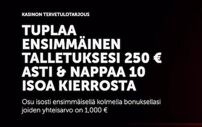 Betsafen kasinobonuksella voit lunastaa jopa 1 000 euroa ilmaista pelirahaa!