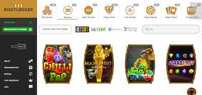 Bootlegger nettikasinolla tarjonnasta löytyy paljon erilaisia kolikkopelejä