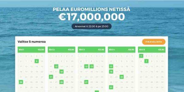 Multilotto Euromillions lotto