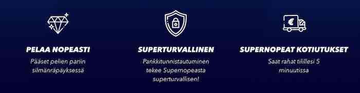 SuperNopea Casino toimintaohjeet