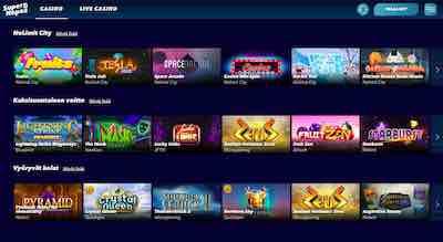 SuperNopea Casino kaikki pelit