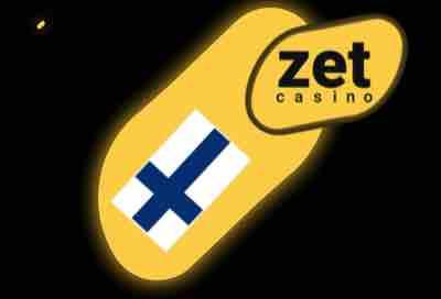 Zet Casinon palvelut suomen lipun alla ja logo