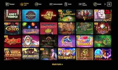 Zet Casinon parhaan kategorian pelit