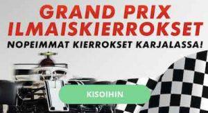 Karjala Kasino jakaa kierroksia F1-kisoista