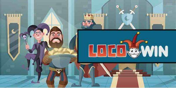LocoWin Casino logo ja pelihahmoja hovissa