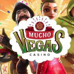 Muchovegas Casino logo ja pelihahmot