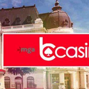 bCasinon logo ja katukuva mga