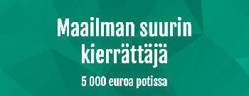 Casinohuoneen turnauksessa 500€ potti