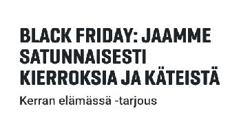 Gutsin black friday -kampanja