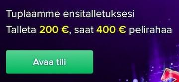 Casinoeurolta saat bonusrahaa jopa 200 euroa